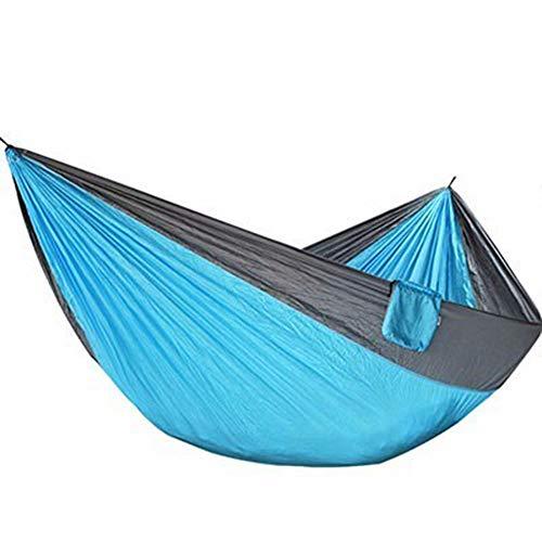 hamac CDFSG Suspension Légère De Hamac De Parachute pour Paddock De Plage De Survie De Camping Extérieur 320×200cm Bleu Gris