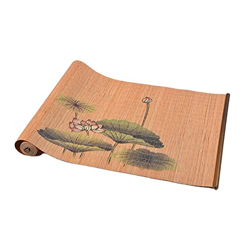 AWSAD Camino De Mesa Decoración,Camino De Mesa, para Cocina, Mesa De Comedor, Estera De Té De Bambú Impresa, Se Puede Limpiar (Size : 30x135cm)