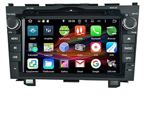 Adecuado para 06-11 HONDA CRV Equipo de ocho núcleos 8 pulgadas Android 8.0 Instrumento de navegación por automóvil GPS Máquina integrada de imagen inversa, radio de automóvil Multimedia Player GPS Na