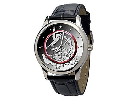 Leder-Armbanduhr TROPISCHE ZONE mit passendem Design zur neuesten 5-Euro-Münze 2017