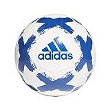 adidas Pallone da calcio unisex, per adulti, colore bianco/rosso