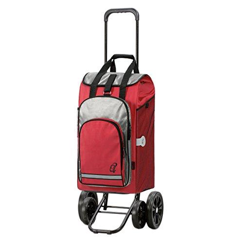 Andersen Shopper Quattro und 60 Liter Einkaufstasche Hydro rot mit Kühlfach