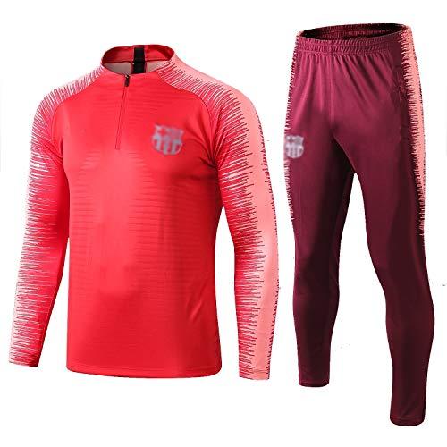 L-YIN Tire Jersey Suit Europa Football Club Training deportes al aire libre de los hombres de la mitad (Tops + Pants) - AG0405 Chándales (Color : Red, Size : M)