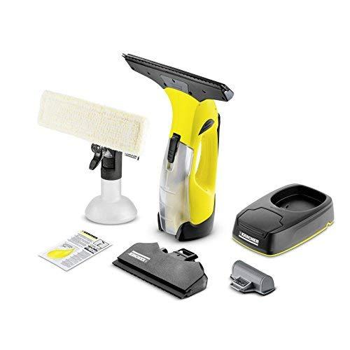 Kärcher Akku Fenstersauger WV 5 Plus Non Stop Cleaning Kit (Entnehmbarer Akku, Ersatzakku, Ladestation, Sprühflasche mit Mikrofaserbezug, wechselbare Saugdüse, Fensterreiniger-Konzentrat 20 ml)