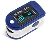 Pulse Oximeter Fingertip, Large OLED Display Pulse Oximeter Finger Oximetry...