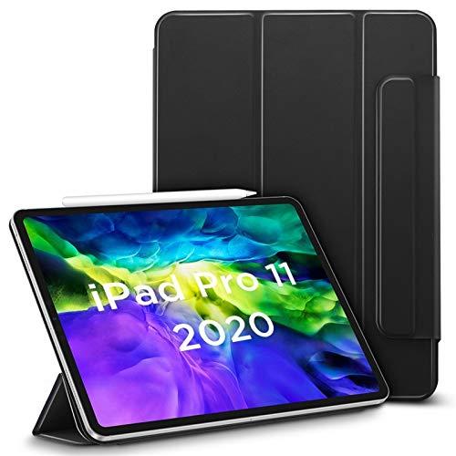 CGGA Funda para iPad Air 4 2020 Pro 11'' 12.9'' pulgadas 2018 Funda magnética segura para auto suave y sedosa cubierta magnética Smart Case (color: negro, tamaño: Pro 12.9 2020)
