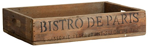 "Ib Laursen - Holztablett ""Bistro de Paris"" 29cm x 40cm (5252-14)"