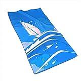 KENBOB Vela Blanca Yate Toallas Toallas de baño de Manos para Playa Piscina SPA Gimnasio Hotel Motel Alquiler de Habitaciones Toallas de baño Suaves de súper Manos