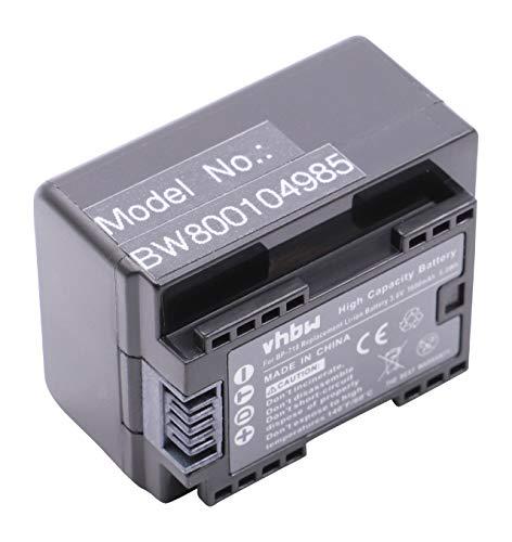 vhbw Li-Ion batteria 1600mAh (3.6V) con infochip per telecamera videocamera camcorder Canon Legria HF R66, HF R68, HF R606 sostituisce BP-718.