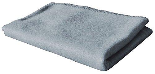 KiGATEX Polar-Fleecedecke in vielen Farben 130x160 cm pflegeleicht für Innen oder Außen (Silber)