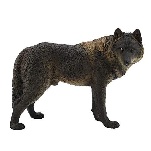 Wolf Figur Spielzeug Simulation Wildlife Tier Modell Spielzeug Zoo Tiere Modell Action Figuren Spielsets für Kinder Bildung Collectibles Geschenk Home Decor(3#)