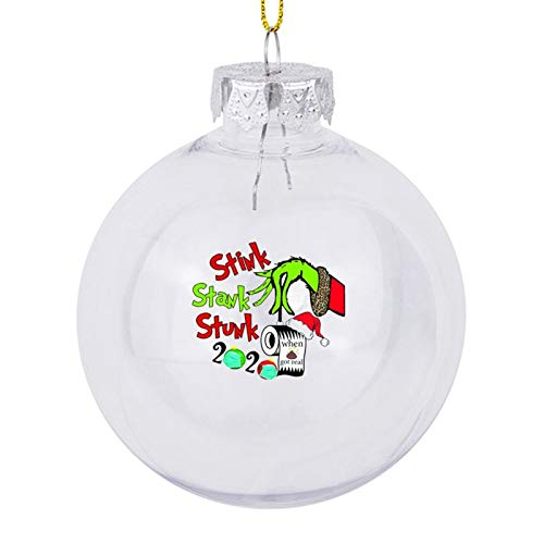 McC538arthy 2020 Christmas Ball Ornaments, 2020 Stink Stank Stunk Paper Towel Shatterproof Xmas Hanging Ornament Tree Decorations for Holiday Wedding Party