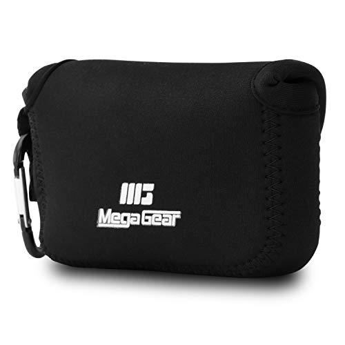 MegaGear Canon PowerShot G5 X Ultraleichte Kameratasche aus Neopren mit Karabiner Haken schwarz