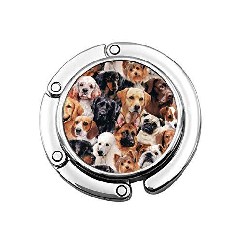 Geldbörsenhaken Viele Hunde drucken Charm Geldbörse Handtasche Tisch Schreibtischhaken - Hakenhalter