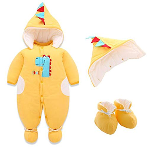 Yefree Mamelucos para Bebés Monos con Calzado Sombrero de Algodón Mono de Invierno Infantil Conjunto de Trajes