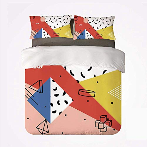 Miwaimao Bedding Bettwäsche-Set,Abstrakte Moderne geometrische Trippy Figuren...