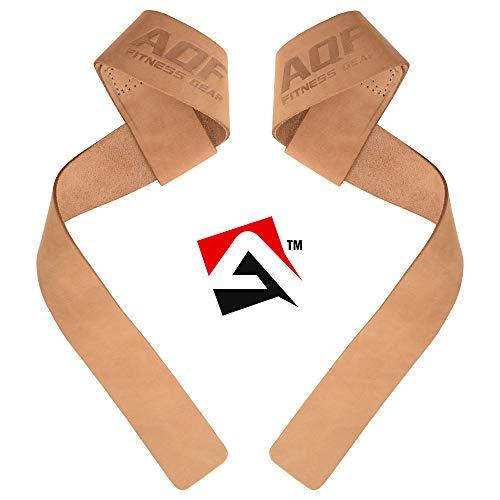 AQF Zughilfen Krafttraining 2er Set Für Profis Bodybuilding & Fitness Gym Weight Lifting Straps Männer & Frauen