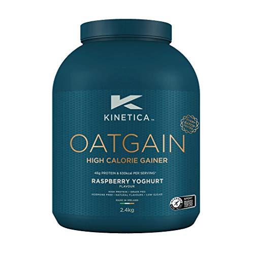 Kinetica Oatgain Powder, Raspberry Yoghurt, 15 Servings, 2.4kg, Pre and Post Exercise Endurance, Stamina and Muscle Repair