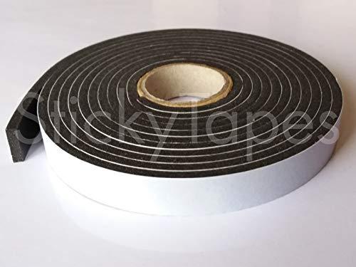 StickyTapes Schaumstoff-Füll- und Dichtungsband, 3 mm dick, 12 mm x 2 m