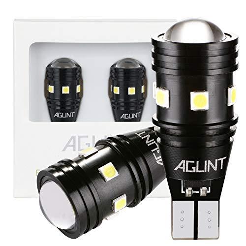 AGLINT W16W T15 LED Ampoule CANBUS Sans Erreurs 3030 10SMD 12V 24V pour Voiture LED Feux de Recul Sauvegarde Inversée Lumière 6000K Xenon Blanc