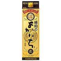 本格焼酎 琥珀のよかいち 麦 25度 1.8L紙パック 6本セット