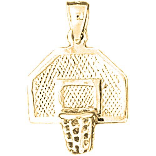 Jewels Obsession Basketball-Anhänger, 14 Karat Gelbgold, 24 mm