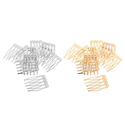 Hellery 20 Piezas de Aleación de Metal Pinzas para El Cabello Peines Laterales Pasadores 5 Mujeres Señoras Artesanía