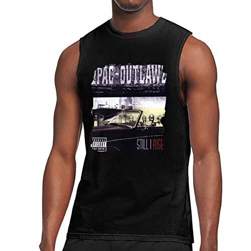 iqingzhongbai 2 Stück Still I Rise ärmellose Sportweste T-Shirt Muscle Tank schwarz, Trägerloser Medium