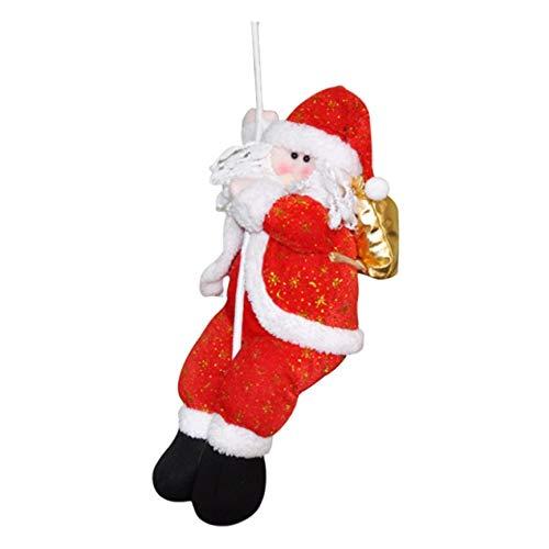 VCB Decoración navideña Telas de Dibujos Animados Decoración del escaparate del Mercado de Santa Claus (22cm)