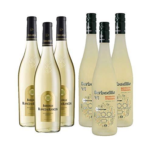 Vinos blancos Barbadillo VI Cool y Blanco de Blancos - D.O. Tierra de Cadiz - Mezclanza Barbadillo (Pack de 6 botellas)