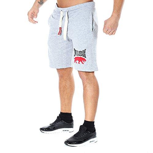 SMILODOX Herren Shorts 'Classic' | Kurze Hosen für Sport Fitness Gym Training & Freizeit | Jogginghose - Freizeithose - Trainingshose - Sweatpants - Sporthose Kurz, Farbe:Grau, Größe:S
