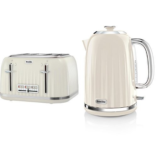 Breville Impressions 4 Slice Toaster and Kettle Bundle - Cream