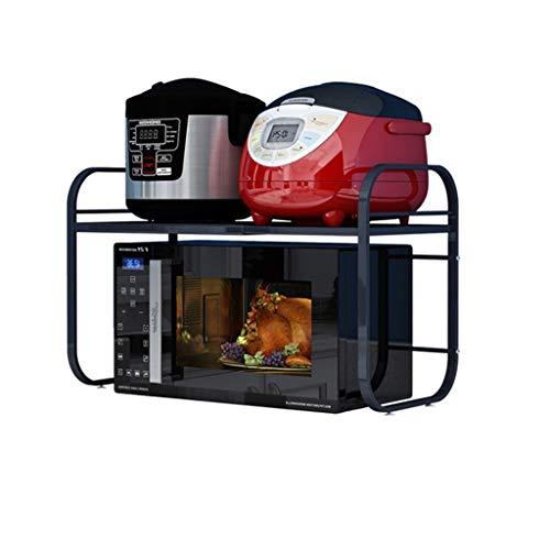 Suministros de organizador de cocina Microondas de metal estante de la cocina Horno estante de especia longitud puede extenderse libremente 40-60 cm (15.7-23.6 pulgadas) Exhibición del estante del pla