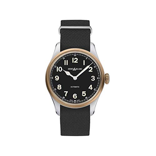 Montblanc 1858 Herren-Armbanduhr 40mm Armband Nylon Schwarz Automatik 117832