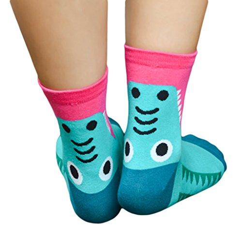 Bigood Damen Socken, gemustert Gr. Einheitsgröße, krokodil