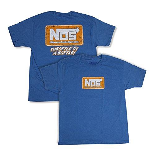 NOS/Nitrous Oxide System 19071-XLNOS T-Shirt NOS Logo Blue Unisex X-Large T-Shirt