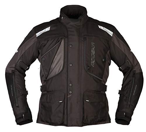Modeka Motorradjacke AERIS schwarz dunkelgrau wasserdicht Thermofutter Protektor, 10XL