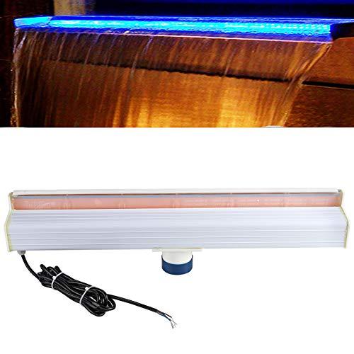 GOTOTOP LED Luz de Piscina con 10 Modos de iluminación, Luz Sumergible de Cascada de Estanque DC 12V, 60cm