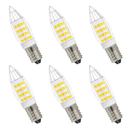 Lampe Ampoule Flamme Ampoule Bougie Petit a LED E14 Economique 4W 350Lm Blanc Chaud 3000K Ampoule Incandescente Halogène 40W Équivalent AC220~240V Lot de 6 de Enuotek