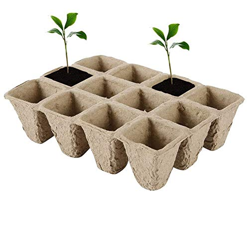 Macetas Biodegradables, 20 Piezas Macetas Biodegradables Pequeñas, Macetas Turba, Macetas Biodegradables Semillas, Turba Biodegradables, Se Utiliza para Verduras, Semillas, Flores, Plántulas