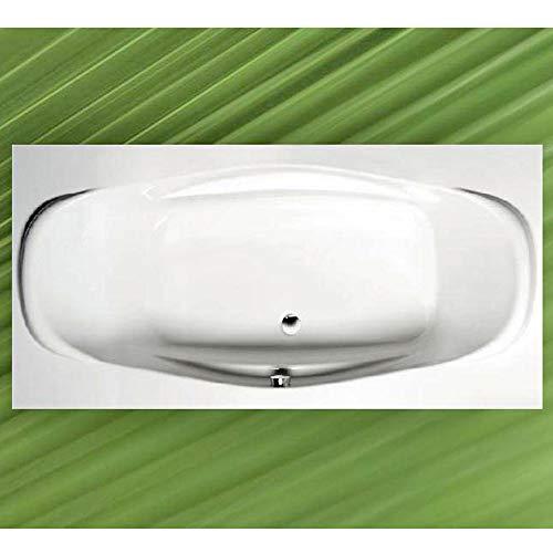 Badewanne GARDA 190x90cm, Acryl in weiß komplett mit Wannenfüssen