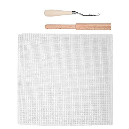 Mxtech Tela de Malla Duradera de Bricolaje, Tela de Malla, para Casarse, Herramientas para Tejer alfombras de Bricolaje