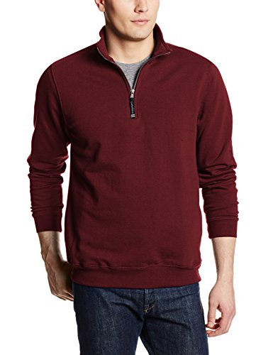 Charles River Apparel Unisex-Adult's Crosswind Quarter Zip Sweatshirt (Regular & Big-Tall Sizes), Maroon, S