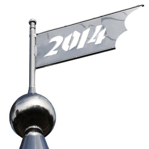 Linneborn girouette en acier inoxydable avec pointe en flèche année individuelle