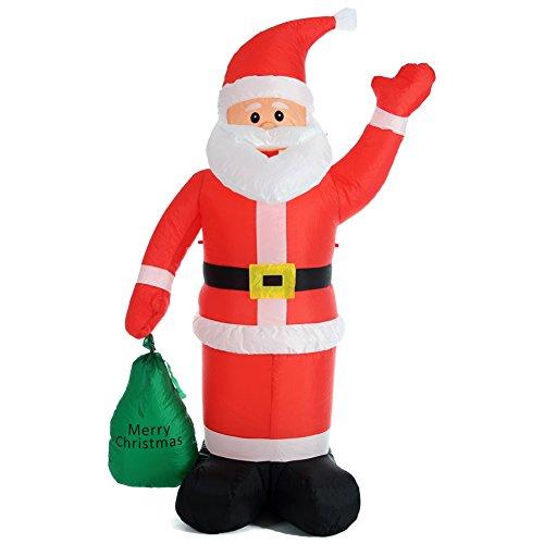 BAKAJI Babbo Natale Gonfiabile con Sacco dei Regali...