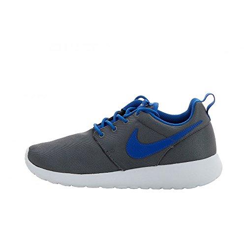 Nike Rosherun (GS) Zapatillas de correr para niños 599728-009 Cool Grey Military Blue-White 5 M US