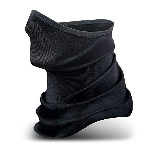 STANDWERK® - Model X-Treme Sturmhaube schwarz - Atmungsaktive Sturmmaske - Klimaregulierende Skimaske - Balaclava mit hochwertigem Nylon-Netz - MTB Zubehör (L-XL)