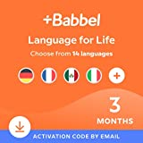 Babbel Language Learning Software - Learn to Speak Spanish, French, English, & More - 14 Languages to Choose from - Compatible with iOS, Android, Mac & PC (3 Month Subscription)