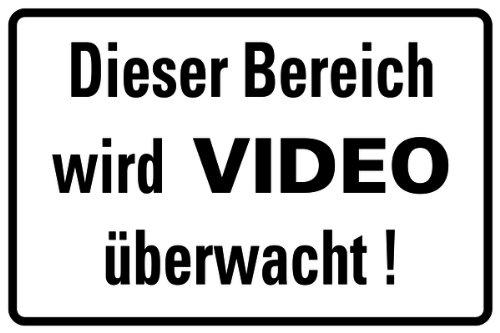 H.Klar Schild Alu Dieser Bereich wird VIDEO überwacht! 200x300mm