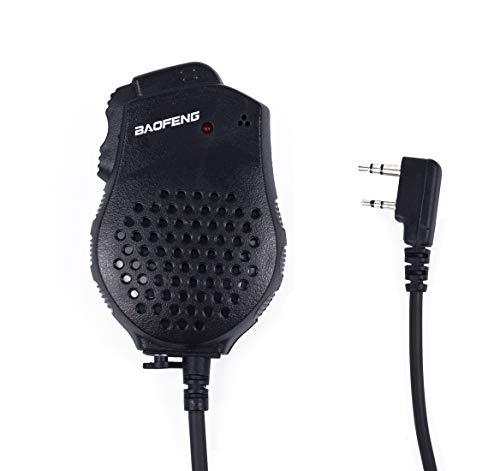 Mengshen Baofeng Micrófono Dual PTT Microphone Speaker Mic for Portable Radio UV-82 UV-82L UV-8D UV-89 UV-82HX UV-82HP GT-5TP, UV-82_M